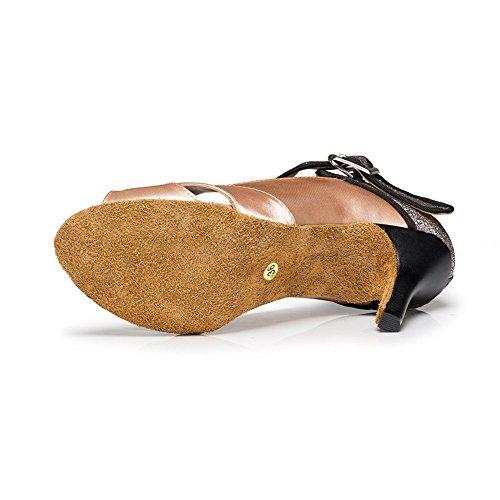 Latino 5cm Mujer Baile Zapatos Baile Zapatos Oro De Interior De 0vzOwqw