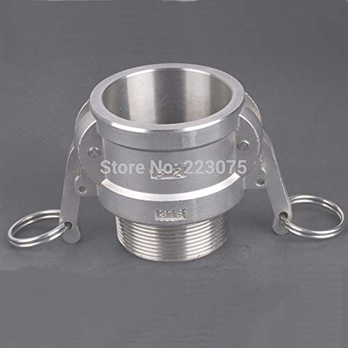 Maslin SS304 Stainless Steel CAM Lock CAMLOCK Type B Groove Coupler Female to 2-1/2'' NPT Male