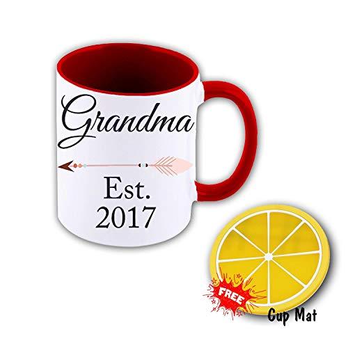 Grandma Est 2017 Funny Coffee Mugs Tea Cup