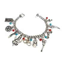 Supernatural inspired Toggle Clasp Charm Bracelet - Great Gift for Fans