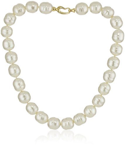 - Majorica 14mm White Baroque with Bean Clasp 17