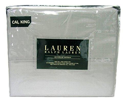 (Lauren Ralph Lauren Cal King Dove Grey Gray 4pc Sheet Set Dunham Sateen 300)