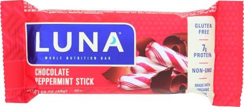 LUNA BAR - Gluten Free Bar - Chocolate Peppermint Stick 1.69 Ounce (Pack of 6)