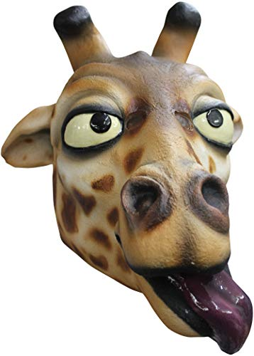 Giraffe Adult Latex Mask Funny Cartoon Zoo Animal