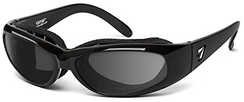7eye by Panoptx Chubasco Wind Blocking Sunglasses – Gray Lenses ANSI Z87 Sports Cycling Motorcycle Outdoors Driving Eyewear