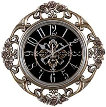 KEHUITONG 時計ヨーロッパスタイルの壁掛け時計クリエイティブミュートビッグウォールチャートシンプルなリビングルームファッション時計寝室クォーツ時計装飾 (Color : D)