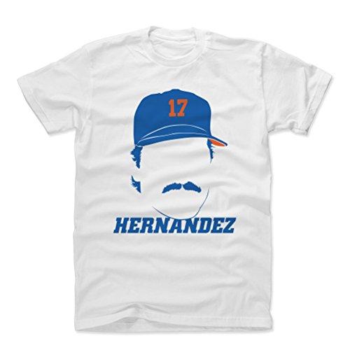 500 LEVEL Keith Hernandez Cotton Shirt Medium White - Vintage New York Baseball Men's Apparel - Keith Hernandez Silhouette B