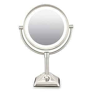 Amazon Com Conair Variable Lighted 1x 10x Mirror In Satin