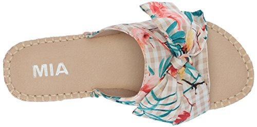 Mia Womens Brenda Slide Sandal Natural Floral