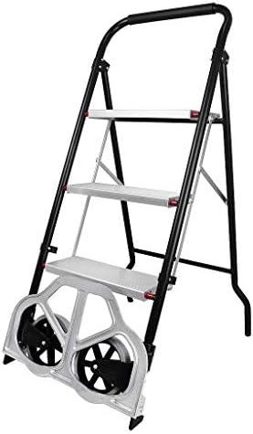 Todeco - Escalera Plegable 2 en 1, Carro de Transporte - Tamaño plegado: 112 x 48 x 7,5 cm - Carga máxima: 100 kg (escalera), 150 kg (carro de mano): Amazon.es: Bricolaje y herramientas