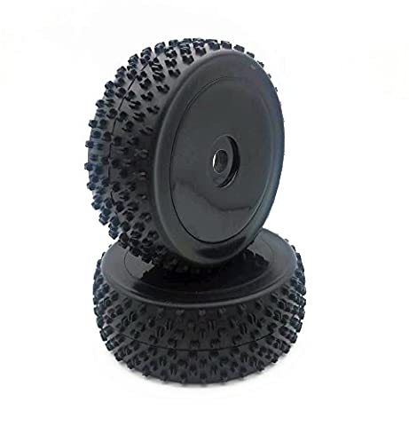 1/8 Off-Road Tires and 17mm Hub Wheels Rims for 1/8 RC Car HSP HIP Buggy 2Pcs Black - 1/8 Buggy