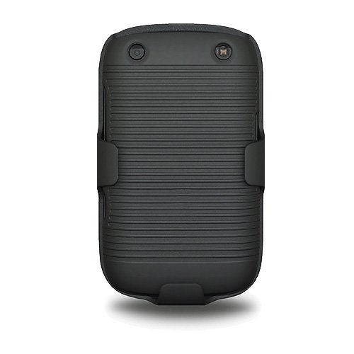 Amzer AMZ94057 Shellster Shell Case Holster Combo Cover for BlackBerry Curve 9220/BlackBerry Curve 9320 - 1 Pack - Retail Packaging - Black ()