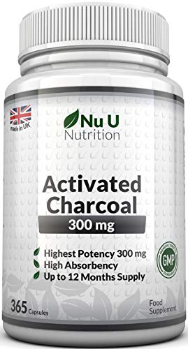 Activated Charcoal 300mg 365 Capsules (not tablets) | One Year Supply of...