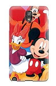 ZippyDoritEduard Case Cover For Galaxy Note 3 - Retailer Packaging Mickey Friends Amp Love Hearts Romantic Vday Red February Lovers Valentines Holiday Valentines Day Protective Case