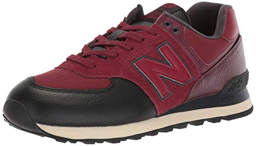 New Balance Men's Iconic 574 Sneaker, Burgundy/Burgundy, 10 D US]()