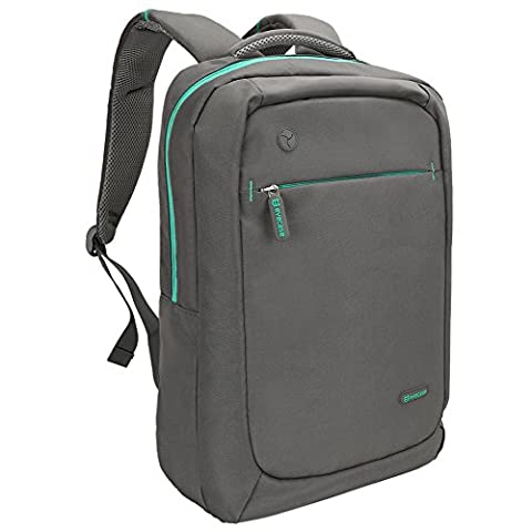 Evecase Lightweight Nylon Water Resistant Multipurpose Backpack for up to 15.6-inch Laptop - Gray (Msi A10)