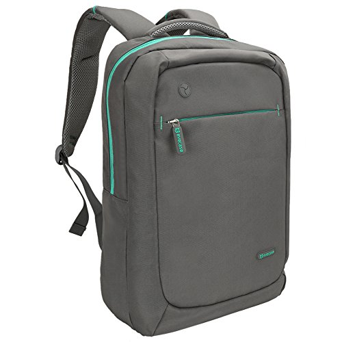 Slim Laptop Backpack, Evecase Lightweight Nylon Water Resistant Multipurpose Rucksack Backpack With Headphone Port fits up to 15.6 Inch Macbook Chromebook Notebook Computer - (Toshiba Shield)