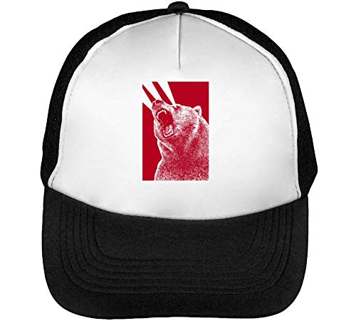 1GD Angry Lasers Gorras Hombre Snapback Beisbol Negro Blanco