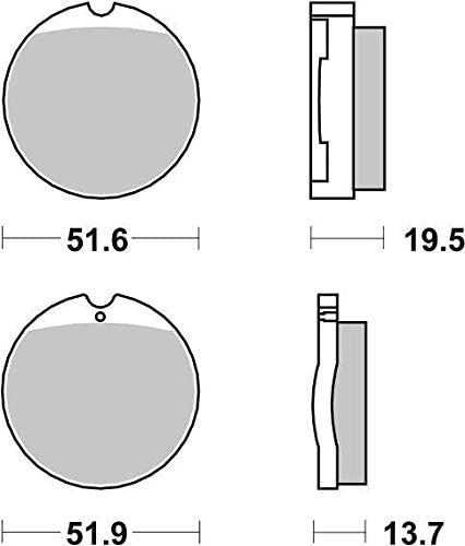 Honda CB 550 CB550 K 74 75 76 77 78 SBS Performance Front Ceramic Brake Pads Set Genuine OE Quality 501HF