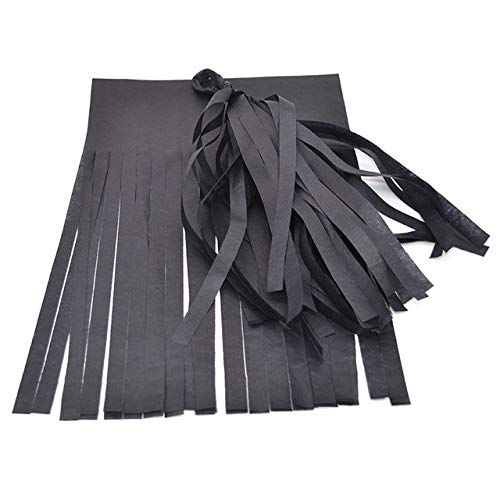 VDV Artificial Flowers 5Pcs 14inch Tissue Paper Tassels Garland for Wedding Decoration DIY Birthday Party Baby Shower Event Party Supplies Used Artificial Flowers-Black