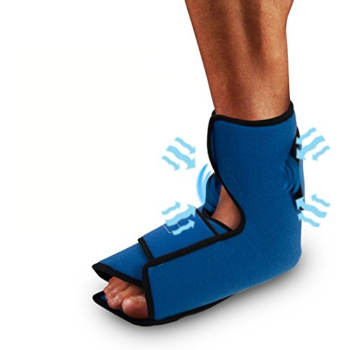 Compression Gel Wrap For ANKLE Pain Relief. Reusable Cyro Cold Therapy Is Colder Than Ice For Long Lasting Pain Relief From Spasms, Swelling And Sore Muscles. Consistent Temperature For Hours.