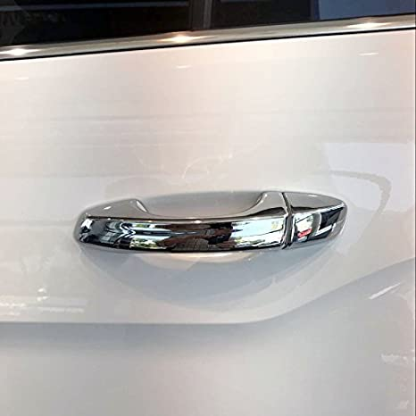 High Flying ext/érieure Plastique ABS chrom/é Poign/ée de porte lat/érale Trim de Coque 8/pcs pour accessoire Auto Vwtroc
