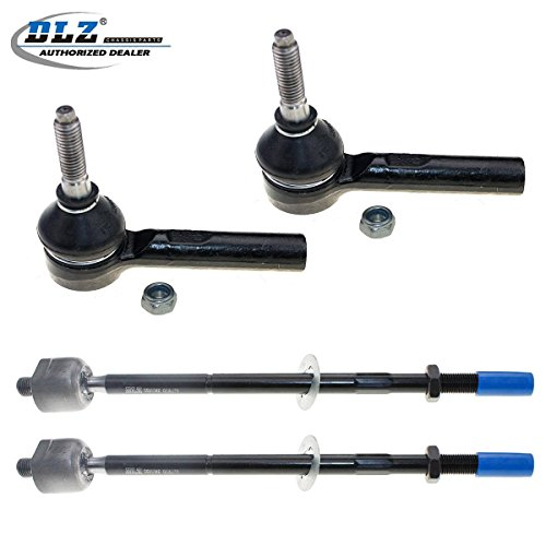 DLZ 4 Pcs Front Suspension Kit-2 Inner 2 Outer Tie Rod End Compatible with 2005-2010 Chevrolet Cobalt 2006-2011 Chevrolet HHR 2007-2008 Pontiac G5 2005-2006 Pontiac Pursuit 2003-2007 Saturn Ion