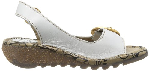 Sandals Off London Wedge Women's Beige White Black Fly Tram 06IwqFxFC