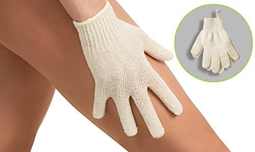 Premium Dry Brushing Body Brush for Lymphatic Drainage & Cellulite Treatment! Plastic-Free Natural Exfoliating Brush Set with Scrub Gloves, Konjac Sponge, Pumice Stone for Glowing More Youthful Skin! by ZEN ME (Image #7)