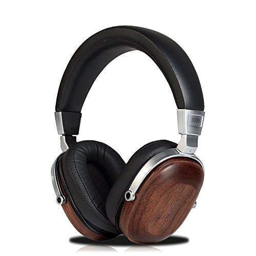 Freegoing Over Ear HeadphonesWith In-Line Powerful Bass Music Wired Wooden Headset For Smart Phone,Tablets,Desktop by Freegoing