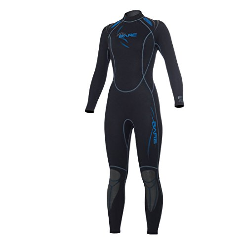 Bare Women's 1mm Thermalskin Full Jumpsuit Wetsuit for Warm Water Scuba Diving and Snorkeling (Women's 12) ()