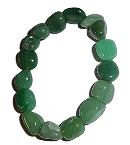 - Sublime Gifts 1pc Aventurine Premium Quality Tumbled Stones Healing Gemstone 6-8 Mm Nugget Beaded Stretch Bracelet
