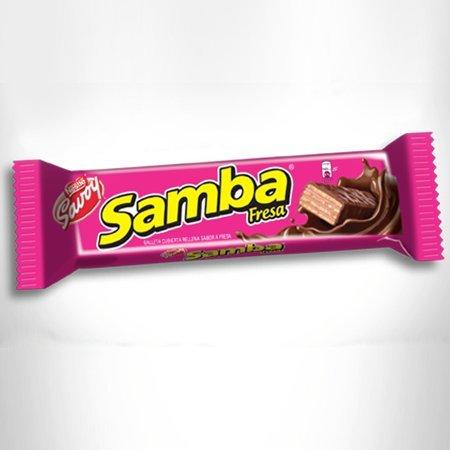 Amazon.com: SAMBA Fresa, Galleta Cubierta de Chocolate Rellena sabor a Fresa, 20 Unidades de 32 gr c/u