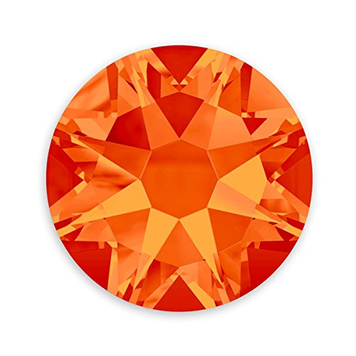 Swarovski Crystal Flat Back Rhinestones (Glue-on) 2088 4.7mm (SS20) Fire Opal Flat Back (Pack of 10)