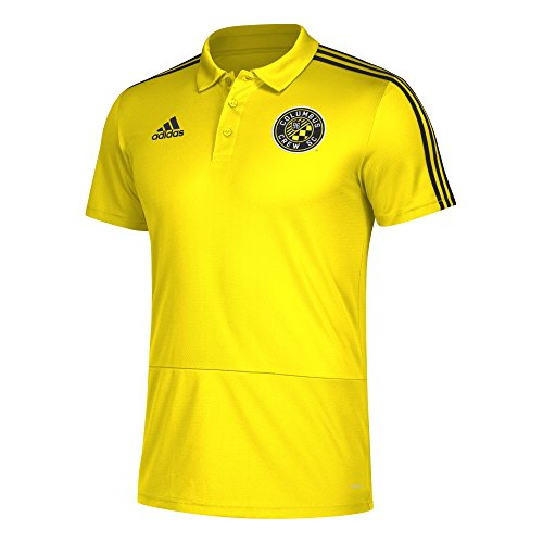 - adidas Men Sideline Coaches Polo, Yellow, Large