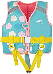 Kids Float Jacket for 29-48 lbs Toddler Swimsuit Learn to Swim, Children Swimwear with Emergency Whistle &