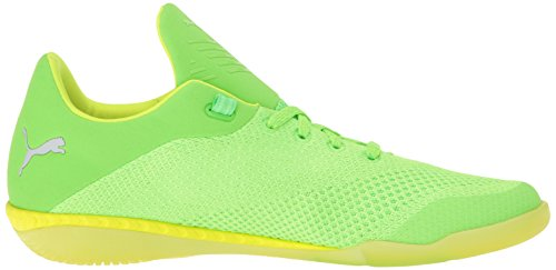 Scarpe da calcio 365 Evoknit Ignite CT da uomo, Green Gecko / Puma White / Safety Yellow, 11 M US