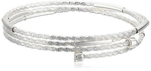 Napier Silver Tone Coil Stretch Bracelet