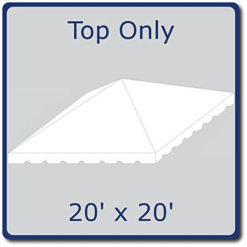 厚くする帳面一緒に20フィートby 20フィートホワイトWest Coastフレームトップのみ( 2 Piece )