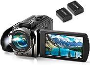 Video Camera Camcorder kimire Digital Camera Recorder Full HD 1080P 15FPS 24MP 3.0 Inch 270 Degree Rotation LC