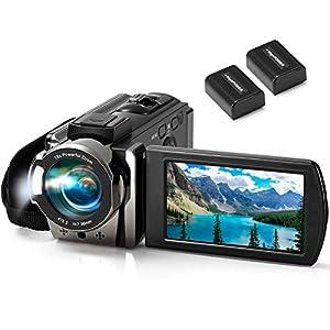 Flashandfocus.com 41DfLwe1NXL._SS300_ Video Camera Camcorder kimire Digital Camera Recorder Full HD 1080P 15FPS 24MP 3.0 Inch 270 Degree Rotation LCD 16X…