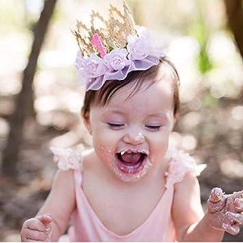 Wuudi Dentelle Couronne Serre Tete Fleur Bebe Bandeau Enfants