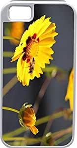 iPhone 4 Case iPhone 4S Case Cases Customized Gifts Cover yellow Leaves Design with Bees on it Design - Ideal Gift