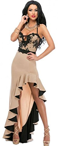 DH-MS Dress Women's Sexy Braces Skirt Evening Dress L (Spanish Sexy)