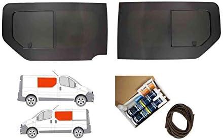 Mano izquierda y derecha, tintado oscuro apertura ventana doble para Renault Trafic (2001 – 2014): Amazon.es: Coche y moto