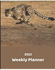 2022 Weekly Planner: Weekly Planner with Note Pages| Monthly Calendar with U.S./UK/ Canadian/Christian/Jewish/Muslim Holidays – Calendar in Review | Dashing Cheetah Planner