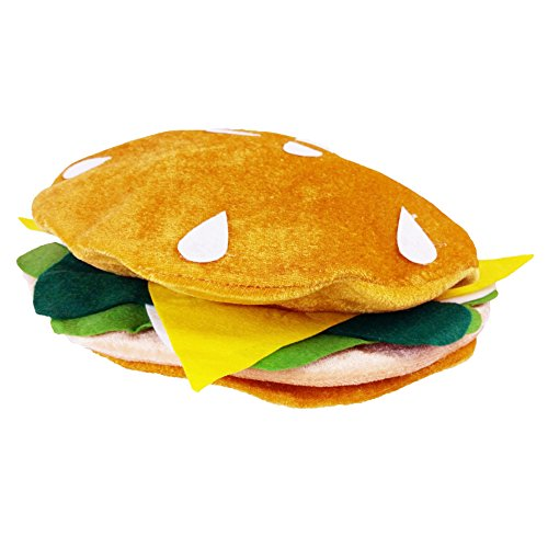 Food Hats - Pizza Hamburger Hot Dog Costume Party Dress Up By Funny Party Hats (Hamburger Hat) (Dress Up Dogs)