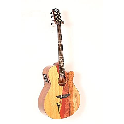 Luna Guitars Vista Eagle Koa Back and Sides Acoustic-Electric Guitar Level 2 Regular 888366066232 - Bubinga Body