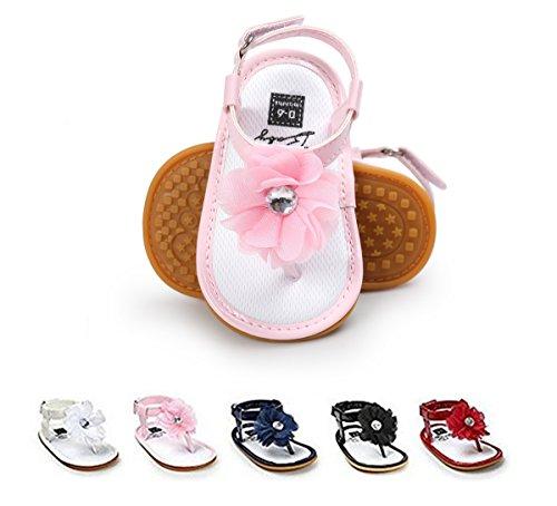 BENHERO Infant Baby Boys Girls Sandals Soft Sole Non Slip Toddler Prewalker Crib Summer Outdoor Walking Shoes (6-12 Months M US Infant), 1974 Pink