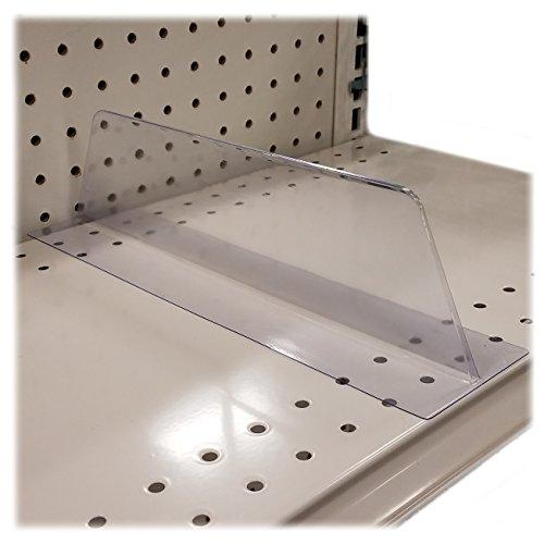 Lightweight T Shaped Transparent PVC Plastic Shelf Divider - Free Standing Organizer - 10 Pack